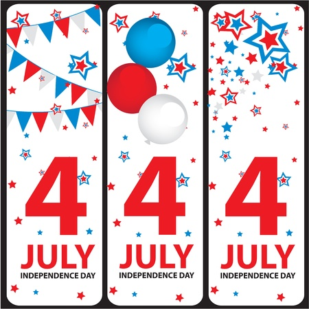 Vector banner July 4 Independence Day Vector