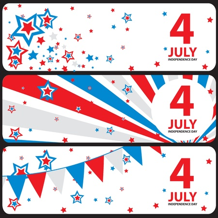 presidents day: Vector banner July 4 Independence Day Illustration
