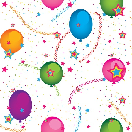 Seamless background of balloons Stock Vector - 12855025