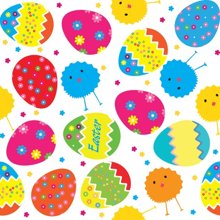 easter sunday: vector pattern easter eggs