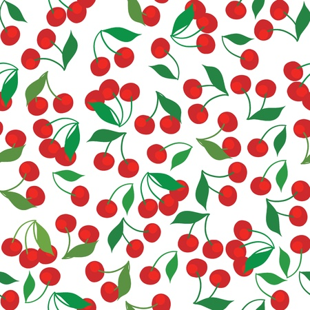 ornamental horticulture: seamless pattern of cherries