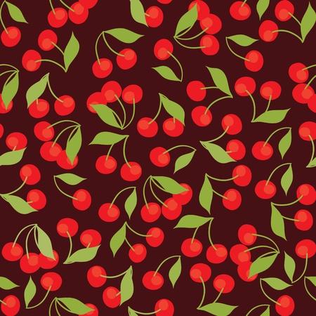 seamless pattern of cherries Vector
