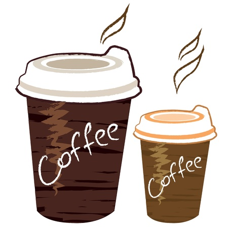 plastic cup: cup of coffee Illustration