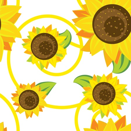 seamless pattern of sunflowers Stock Vector - 12855207