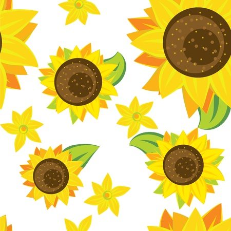 seamless pattern of sunflowers Stock Vector - 12855208