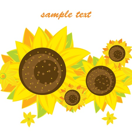 Vector background of bright sunflowers Stock Vector - 12855213