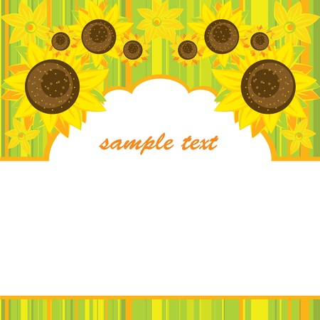 Vector background of bright sunflowers Stock Vector - 12855216