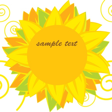 Vector background of bright sunflowers Stock Vector - 12855179
