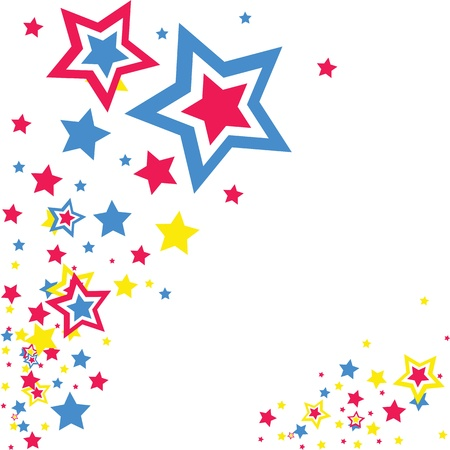 abstract background stars Stock Vector - 12855175