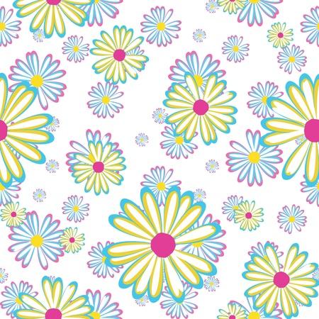 naadloze patroon met bloemen madeliefjes