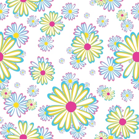 daisy flower: seamless pattern with flowers daisies