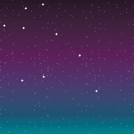 trek: the night sky with stars