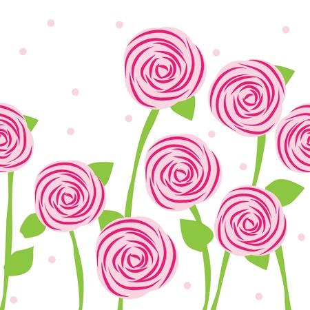 Бесшовные из роз