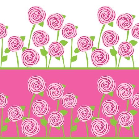 бесшовный фон из роз Иллюстрация