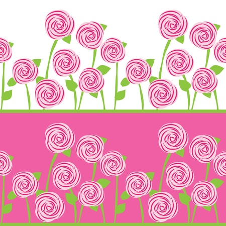 seamless pattern of roses Vector