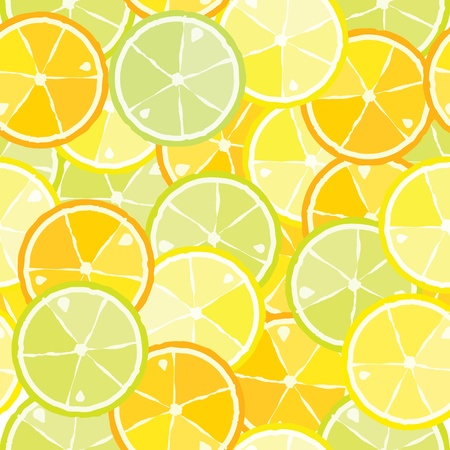 seamless pattern of citrus Vector