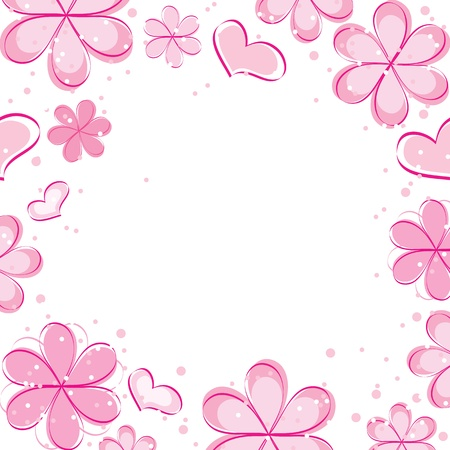 vector abstract background with flowers Stock Vector - 13035634