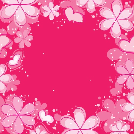 vector abstract background with flowers Stock Vector - 13035635