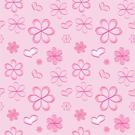 vector seamless pattern with flowers Stock Vector - 13035637