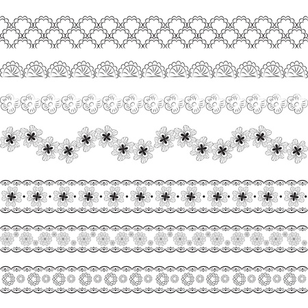 embroidery flower: Seamless lace pattern Illustration