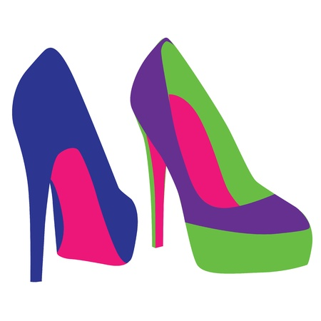 high heels woman: vector shoes Illustration
