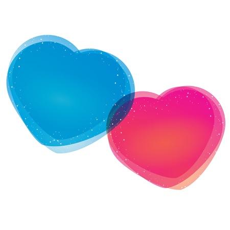 shiny hearts: abstract heart