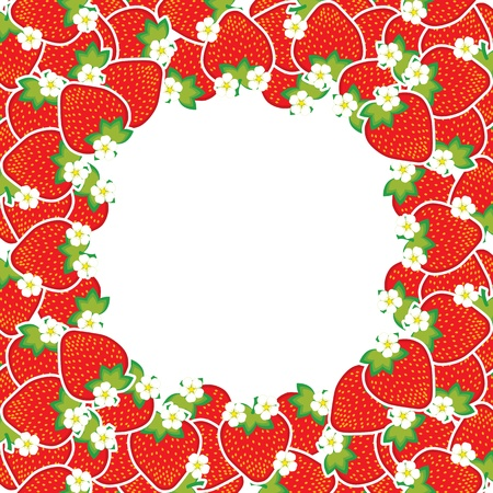 ripe strawberries Vector