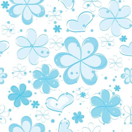 vector naadloze patroon met bloemen