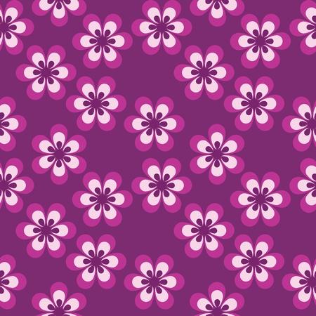 intentie: bloemen naadloos patroon Stock Illustratie