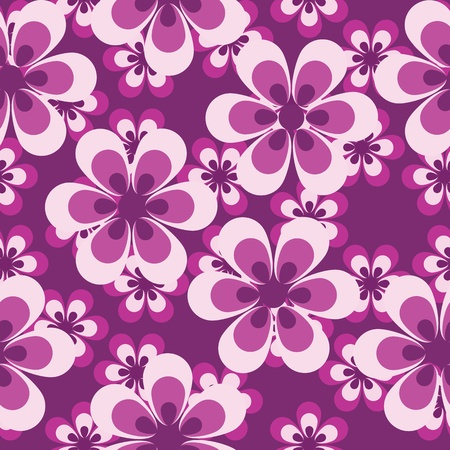 repeated: floral seamless pattern Illustration