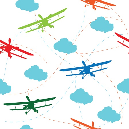 Seamless vector pattern of the plane Vector