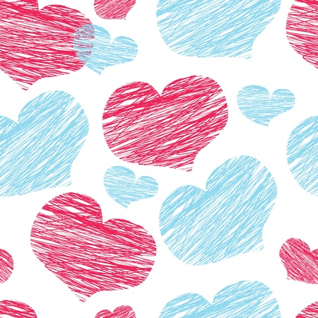 graphing: seamless pattern of the heart