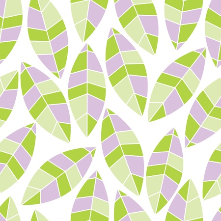 abstract seamless pattern of leaf Vector