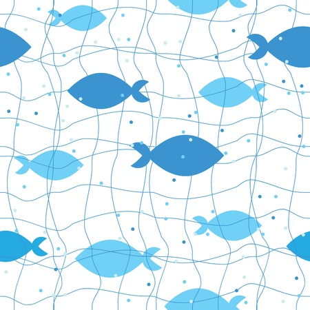fish water: seamless pattern of fish