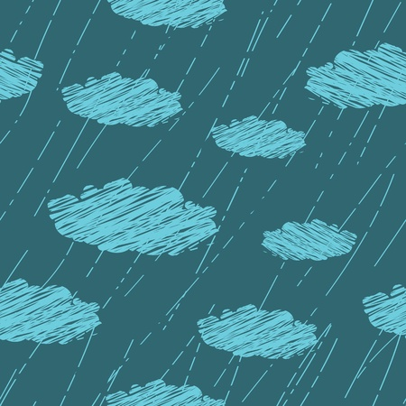 seamless pattern of rain Vector