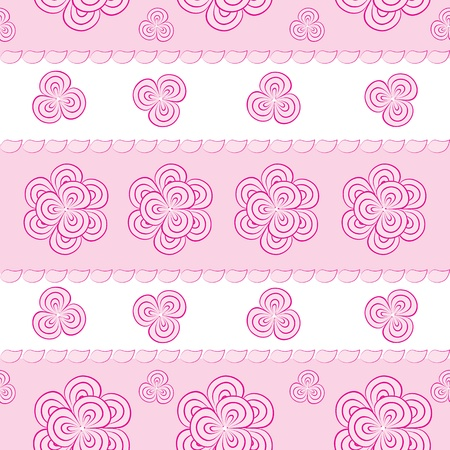 seamless pattern with pink flowers Stock Vector - 13331762