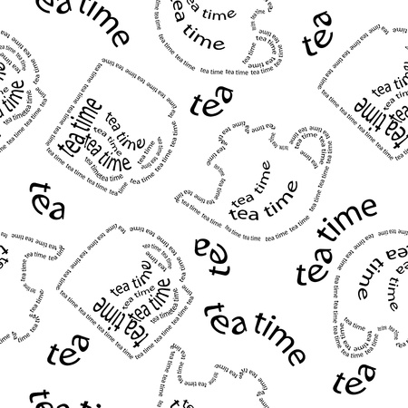 seamless pattern tea time Vector