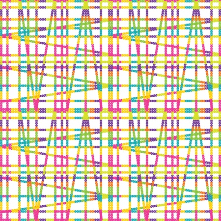 versatile: seamless pattern of colored threads