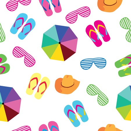 seamless background summer accessories Vector