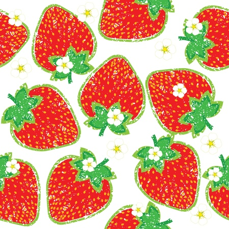 seamless pattern of strawberry Stock Vector - 13344954