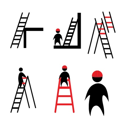 climbing ladder: clipart ladder Illustration