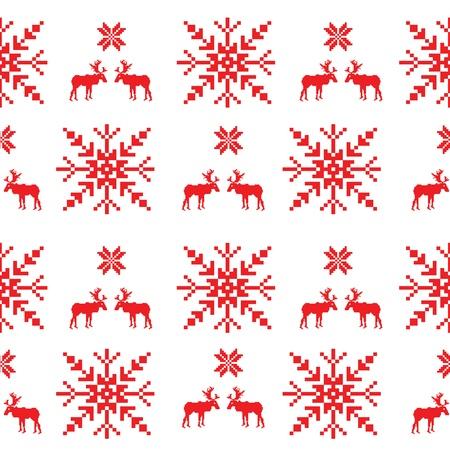 scandinavian: Scandinavian seamless pattern