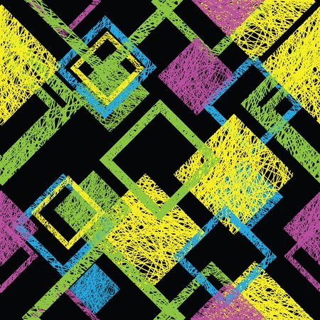 drawing on the fabric: Color a seamless abstract pattern Illustration