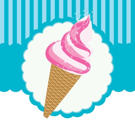 vector label ice cream Stock Vector - 13459125