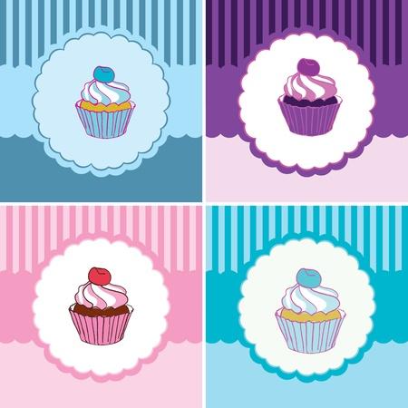 baking cake: vector label cakes Illustration