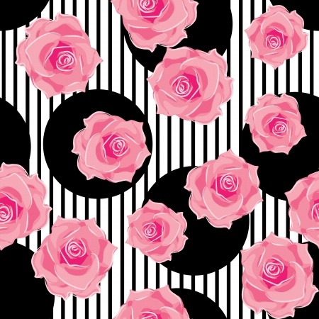 rose illustration: seamless pattern of roses