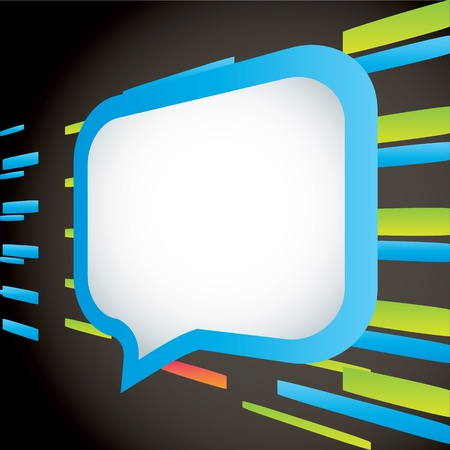 Speech bubbles abstract background Vector