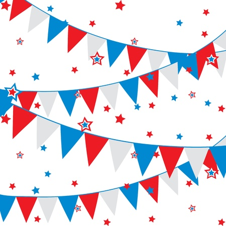 presidents day: vector background with festive flags