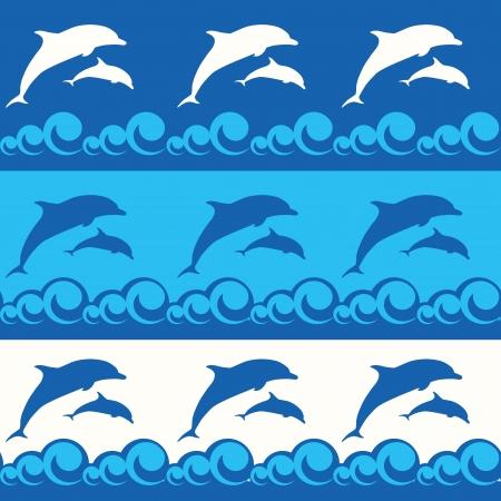 Бесшовные шаблон с дельфинами