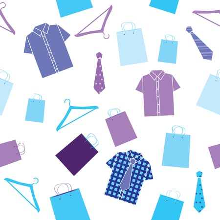 seamless pattern with shirts Vector